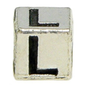"Block Letter ""L"" Alphabet Charm By Olympia - Compatible with Pandora & Troll Bracelets"