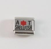 Allergic to Shellfish Medical ID Alert Italian Charm for Bracelet Allergy