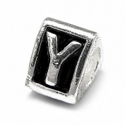 "Letter ""Y"" Alphabet Charm By Olympia - Compatible with Pandora & Troll Bracelets"