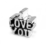 """I Love You"" Charm By Olympia - Compatible with Pandora & Troll Bracelets"