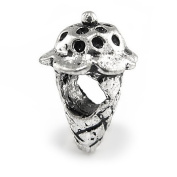 Ice Cream Cone Charm By Olympia - Compatible with Pandora & Troll Bracelets
