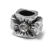 Crystal Cross Charm by Olympia Beads & Charms - Compatible for Pandora, Troll, Biagi, Chamilia Bracelets & Necklaces