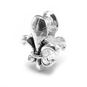 Fleur De Lis Charm by Olympia Beads & Charms - Compatible for Pandora, Troll, Biagi, Chamilia Bracelets & Necklaces