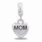 DaVinci Heart Mom Dangle Bead
