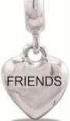 DaVinci Dangle Heart Friend Silver Bead