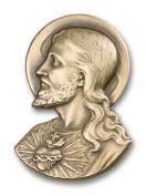 Antique Gold Sacred Heart Visor Clip