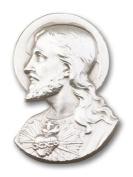 Antique Silver Sacred Heart Visor Clip