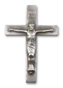 Antique Silver Crucifix Visor Clip