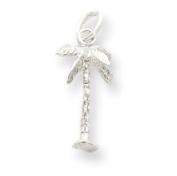 Sterling Silver Palm Tree Charm - JewelryWeb
