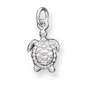 Sterling Silver Turtle Charm - JewelryWeb