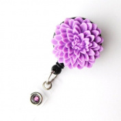 Badge Blooms ID Badge Reel - Flower - Lilac