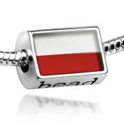 "Beads ""Poland Flag"" - Pandora Charm & Bracelet Compatible"