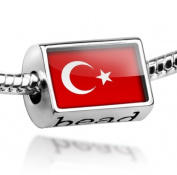 "Beads ""Turkey Flag"" - Pandora Charm & Bracelet Compatible"