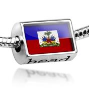 "Beads ""Haiti Flag"" - Pandora Charm & Bracelet Compatible"