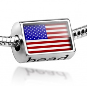 "Beads ""USA Flag"" - Pandora Charm & Bracelet Compatible"