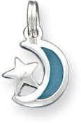 Enamel Moon and Stars Charm, Sterling Silver