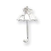 Sterling Silver Umbrella Charm - JewelryWeb