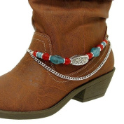 Boot Charm with Red and Blue Accents