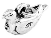 Sterling Silver Three Dimensional Turtle Dove Charm