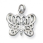 Sterling Silver Butterfly Charm - JewelryWeb