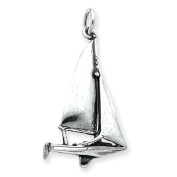 Sterling Silver Antiqued Sailboat Charm