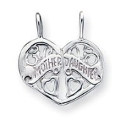 Sterling Silver Mother Daughter Break Apart Charm - JewelryWeb