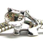 Sterling Silver Lovely Kitty Kitten Cat Animal 3D Bead For Pandora troll European Story Charm Bracelets