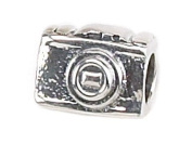 Zable(tm) Sterling Silver 35Mm Camera Bead / Charm