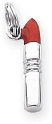 Enamelled Lipstick Charm, Sterling Silver