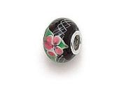 Zable(tm) Sterling Silver Tabor-Hydrangea Glass Murano Glass Bead / Charm