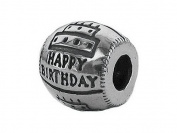 Zable(tm) Sterling Silver Happy Birthday Bead / Charm