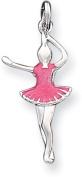 Enamelled Ballerina Charm, Sterling Silver
