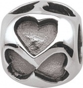 Persona Sterling Silver Trusting Hearts Charm fits Pandora, Troll & Chamilia European Charm Bracelets