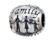 Zable(tm) Sterling Silver Family. Bead / Charm
