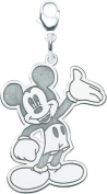 Sterling Silver Disney Waving Mickey Mouse Lobster Clasp Charm