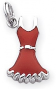 Enamelled Dress Charm, Sterling Silver