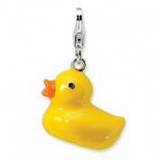 New Amore La Vita Sterling Silver 3-D Duck Charm with Lobster Clasp