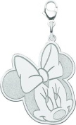 Sterling Silver Disney Minnie Mouse Lobster Clasp Charm