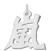 "Sterling Silver ""Storm"" Kanji Chinese Symbol Charm"