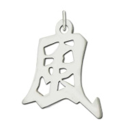 "Sterling Silver ""Wind"" Kanji Chinese Symbol Charm"