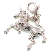 Welded Bliss Sterling 925 Silver Charm. Unicorn Magical Horse Creature, Clip Fit WBC1189