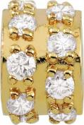 Persona 18K Gold Plated Sterling Silver Effortless Charm fits Pandora, Troll & Chamilia European Charm Bracelets