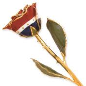 Long Stem Dipped 24k Gold Trim Liberty Rose In Gold Gift Box
