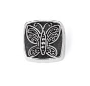 """Bonn Bons® By Lori Bonn Sterling Silver """"Social Butterfly"""" Slide Charm For Charm Bracelets"""