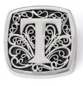 "Bonn Bons® By Lori Bonn Sterling Silver ""T Is For Tempting"" Initial Slide Charm For Charm Bracelets"
