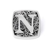 "Bonn Bons® By Lori Bonn Sterling Silver ""N Is For Naughty"" Initial Slide Charm For Charm Bracelets"