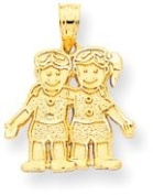 Boy and Girl (Twins) Charm, Yellow Gold