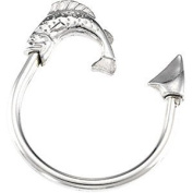Sterling Silver Fishing Key Ring