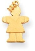 Girl with Bow Charm, Yellow Gold