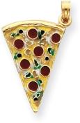 Pizza Slice Enamel Charm, 14K Yellow Gold